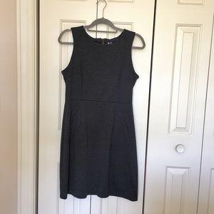 Gray Sheath Dress with Pockets